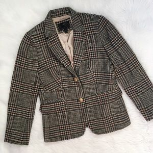 J. Crew Brown Tweed Wool Schoolboy Blazer